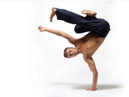 modern ballet dancer posing over white background Stock Photo - 3917742