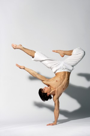 stylish and young modern style dancer is posing Stock Photo - 4189806