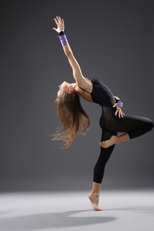 young modern style dancer posing