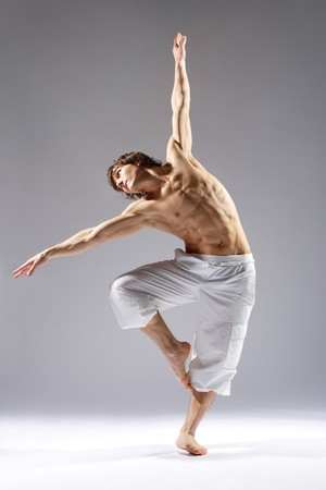 male ballet dancer: stylish and young modern style dancer is posing