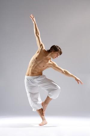 elegante estilo moderno y joven bailarín es lo que Foto de archivo
