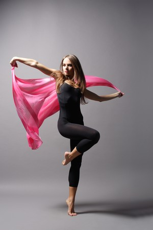 sexy girl dance: stylish and young modern style dancer is posing