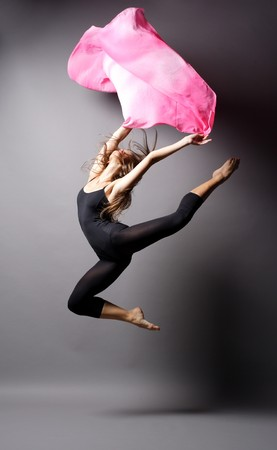 young modern style dancer posing photo