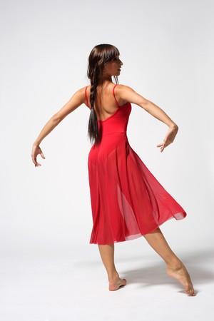 young beautiful modern ballet dancer posing Stock Photo - 4189837