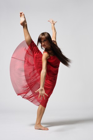 ballet girl: beautiful and very stylish dancer is posing