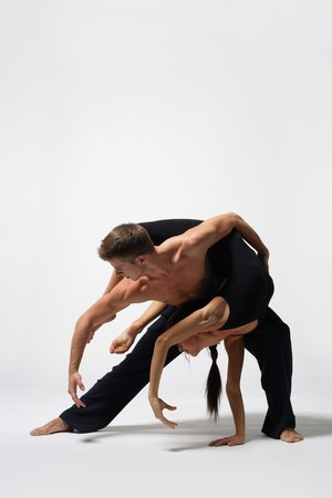 beautiful and very stylish dancers are posing