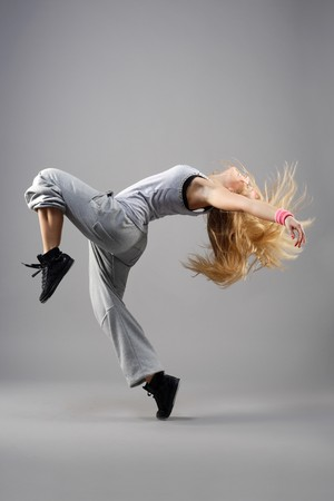 hip-hop style dancer posing Stock Photo - 4189812