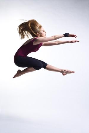 modern ballet dancer posing on white background Stock Photo - 4283109