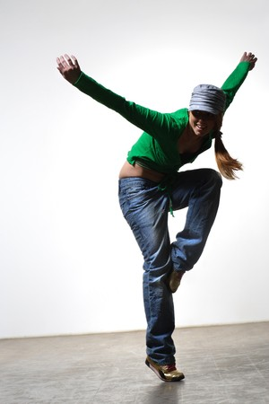 stylish and young modern style dancer is posing Stock Photo - 4306819
