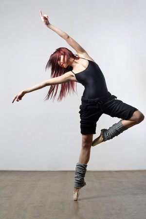 modern ballet dancer: stylish and young modern style dancer is posing
