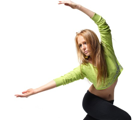 stylish and young modern style dancer is posing Stock Photo - 4325658