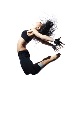 agility people: stylish and young modern style dancer is posing
