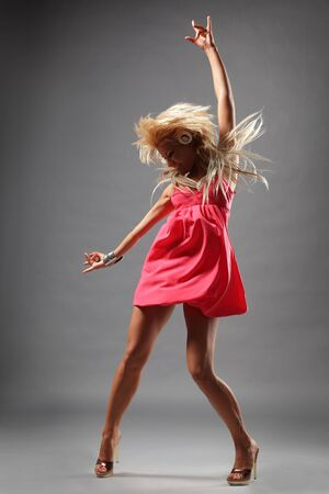 modern style dancer posing on studio background Stock Photo - 4918367