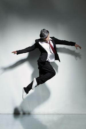 modern style dancer jumping on studio background Stock Photo - 5158666