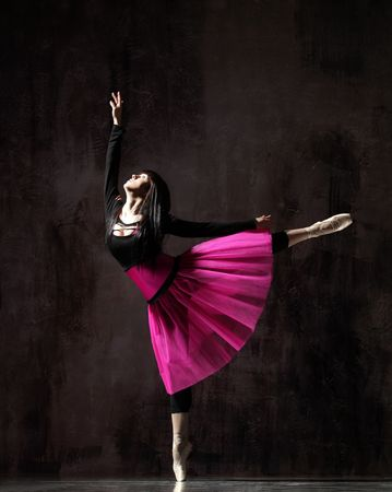 modern style dancer posing on dirty grunge background Stock Photo - 5158706