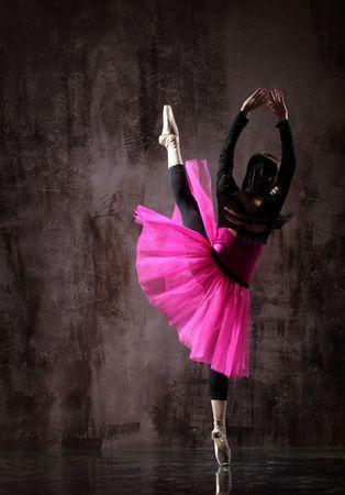 modern style dancer posing on dirty grunge background Stock Photo - 5265245