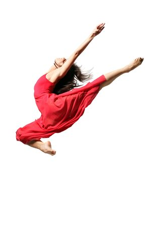modern dancer poses in front of the white wall photo
