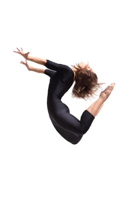 modern dancer poses in front of the studio background Stock Photo - 6206731