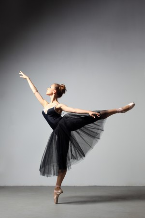 modern style dancer posing on studio background Stock Photo - 7718988