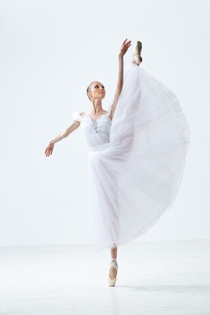 young and beautiful ballet dancer jumping Stock Photo - 8170915