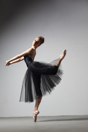 modern style dancer posing on studio background Stock Photo - 8170958
