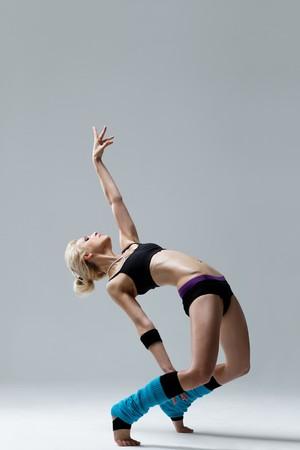 modern style dancer posing on studio background Stock Photo - 8170945
