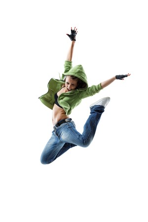 modern style dancer jumping on isolated background Stock Photo - 8170845