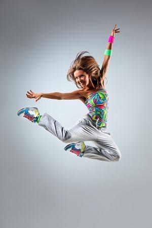 young and beautiful dancer posing in studio Stock Photo - 12082221