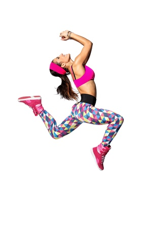 young and beautiful dancer posing on studio background Stock Photo - 12082184