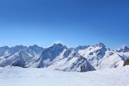 lanscape: french alps near town les deux alpes