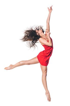 young beautiful dancer posing on studio background Фото со стока - 29831972