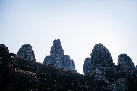 bayon: Ancient temple complex Bayon, Siem Reap, Cambodia Stock Photo