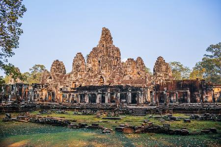 siem reap: Ancient temple complex Bayon, Siem Reap, Cambodia Stock Photo