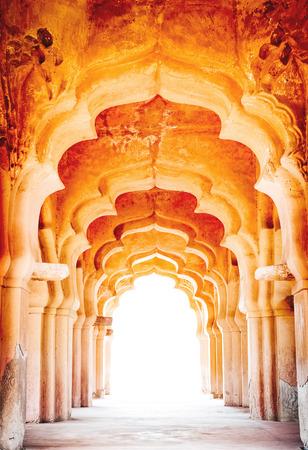 Details of royal Lotus Mahal, Hampi, India Standard-Bild