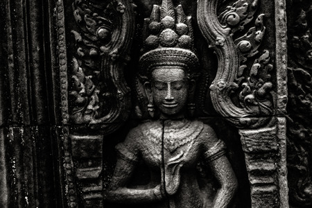 sculpture: Fine art photohraphy in black and white edition of Angkor Wat temple complexes