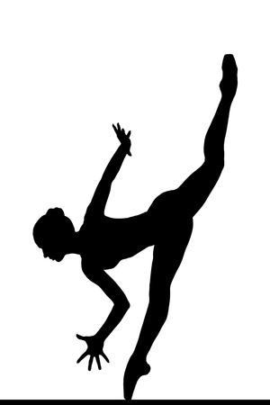 en pointe: Ballerina posing Stock Photo