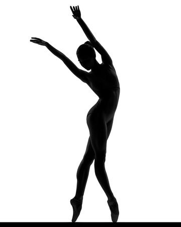 body silhouette: Ballerina posing Stock Photo