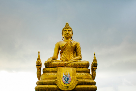A 12 meters high golden statue of Big Buddha