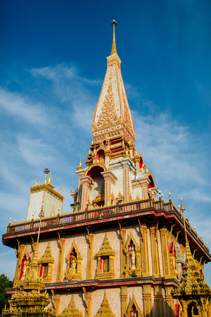 Wat Chalong is the main temple of Phuket Stock Photo - 86585452