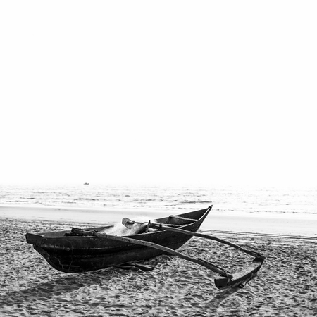 Boat in black and white edition
