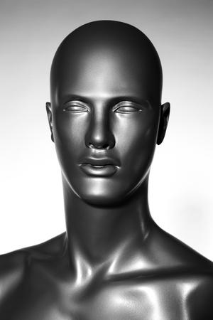 one mannequin on stuido background