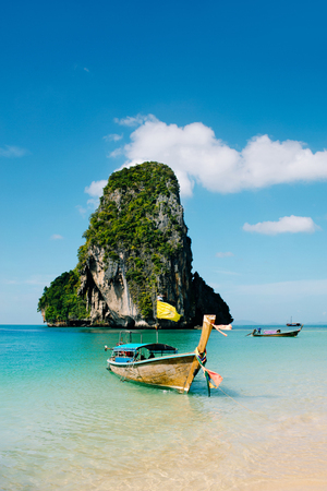Boat on the asian beach