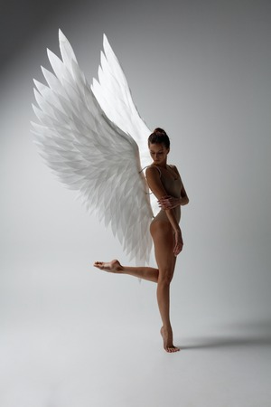 Angel woman posing