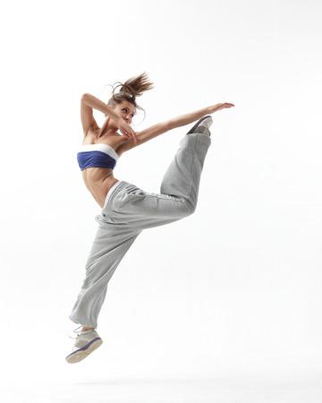 the modern woman hip-hop dancer Reklamní fotografie