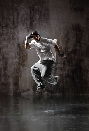 young modern hip hop male dancer