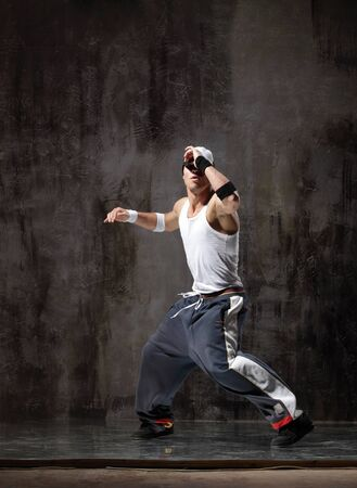 young modern hip hop male dancer Stock Photo