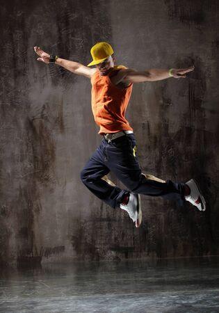 young modern hip hop male dancer Standard-Bild