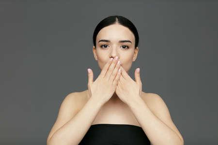 Young beautiful glamour woman face Reklamní fotografie