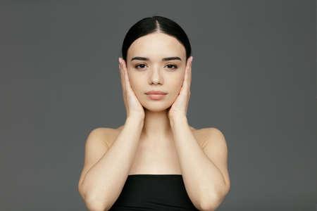 Young beautiful woman face close-up Reklamní fotografie
