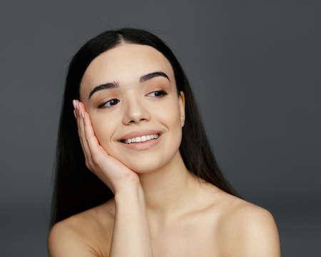 Young beautiful glamour woman face Stok Fotoğraf